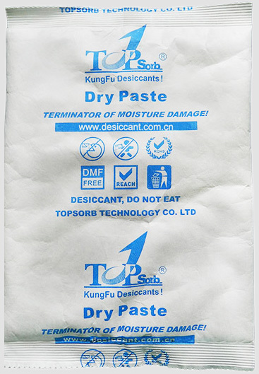 container desiccant dry paste